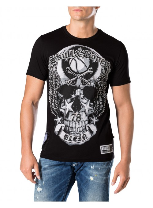 "Camiseta Philipp Plein - Round Neck SS ""OLIVE"""
