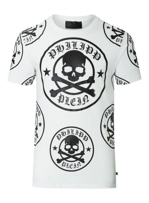 "Camiseta Philipp Plein - Round Neck SS ""PLUM"""