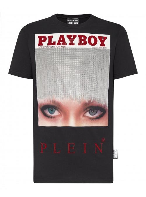 Camiseta Philipp Plein x Playboy - Iconic Eye Crystals