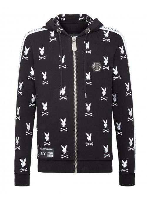 Chaqueta Philipp Plein x Playboy - Bunny Logo Black