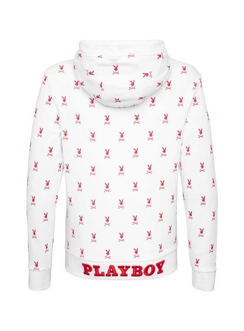Sudadera Philipp Plein x Playboy - Crystals Bunny White