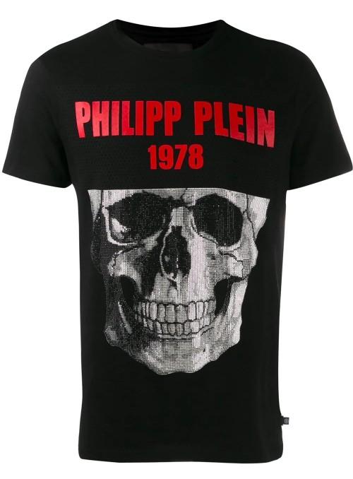Camiseta manga corta Philipp Plein - SS Skull Black Red