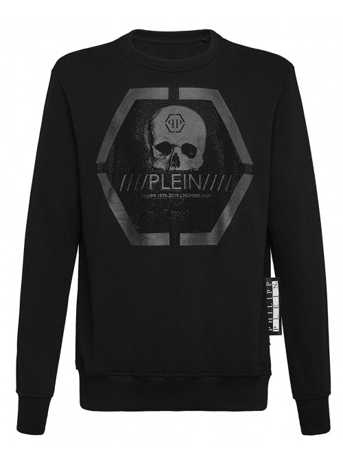 Sudadera Philipp Plein -  LS Skull Black