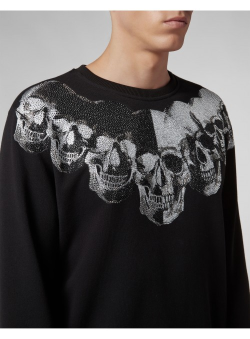 Sudadera Philipp Plein -  LS Skulls Black