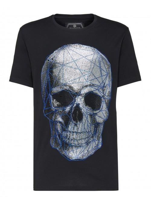 Camiseta Philipp Plein - Platinum Cut Neck Skull