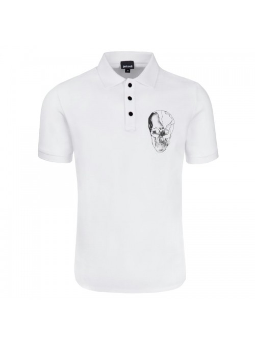 Polo Just  Cavalli - Calavera White
