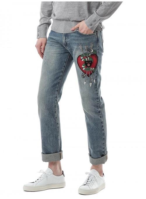 Pantalon Vaquero Gucci - Snake Heart