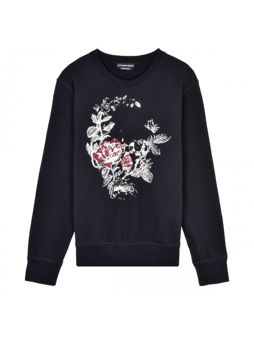 Sweater Alexander McQueen - Black Rose